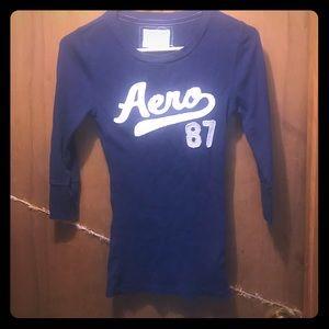 Aero 3/4 sleeve purple shirt